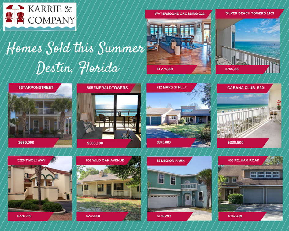 Karrie and Company summer home sales in Destin